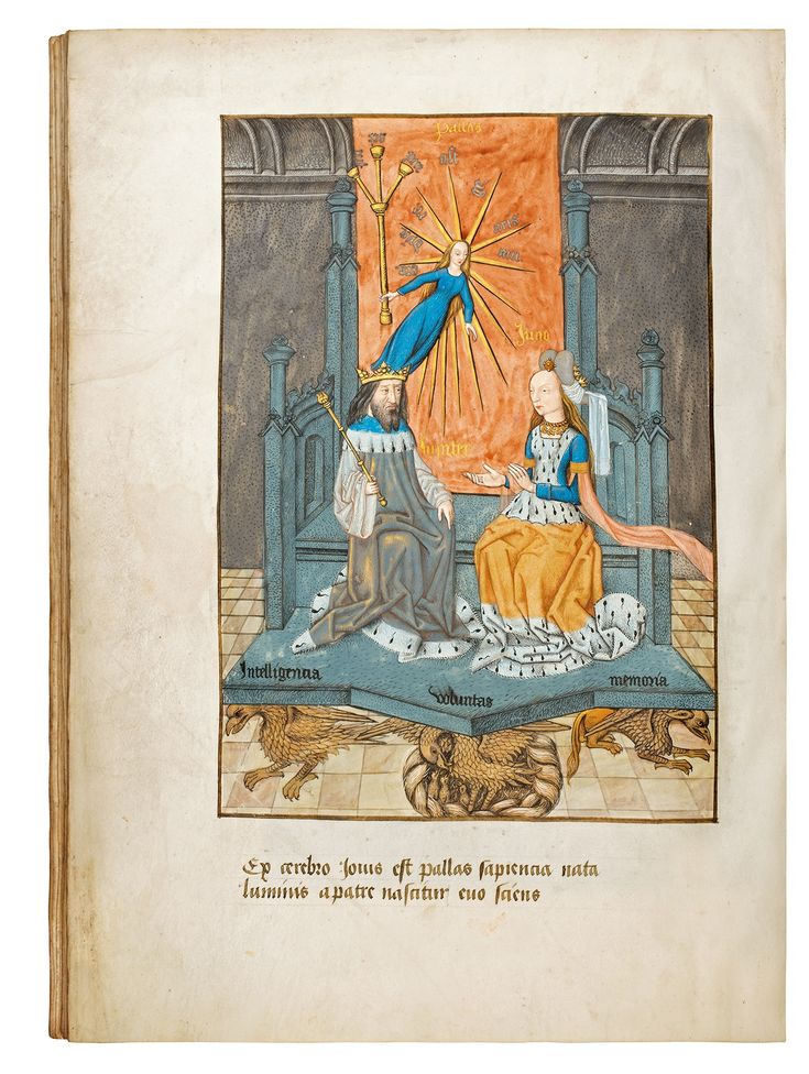 Composite codex with three sections: Jean d'Outremeuse, Le Tresorier de Philosophie Naturelle des Pierres Precieuses. – Ex divina philosophorum achademia secundum nature vires ad extra chyromanticie diligentissime collectum. – Added: four miniatures.