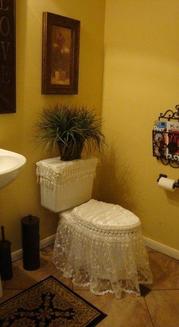 Shabby Chic Bath Room Toilet Set Ensemble by VictorianDesign, $110.00