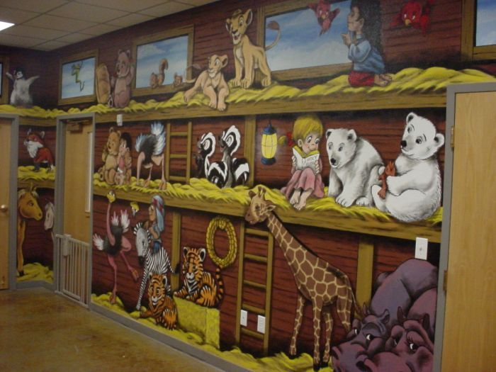 10695 best sunday school images on pinterest school for Church nursery mural ideas