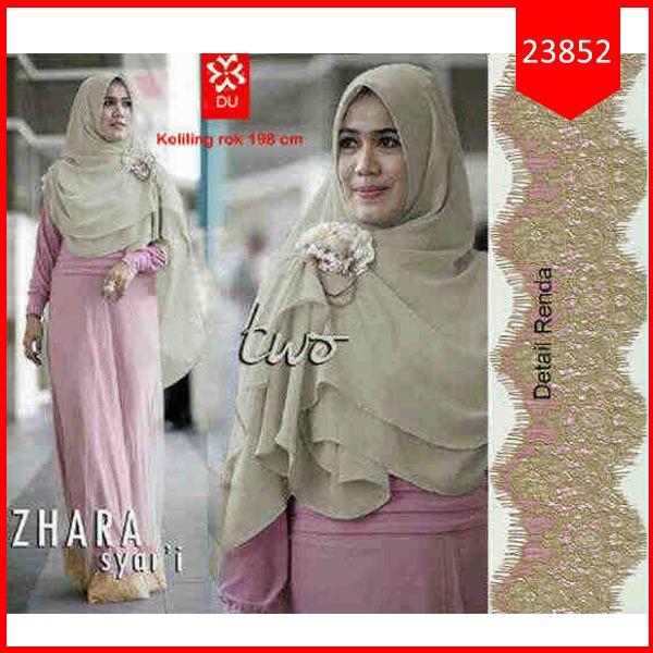 Fashion Hijab Zhara Syar'iFashion Hijab Zhara Syar'i Kode  : 23852  Harga : 105.000  Size :  LD=45cm P=72cm  ( DRESS MAXI+HIJAB )  Bahan : Cotton Spandex