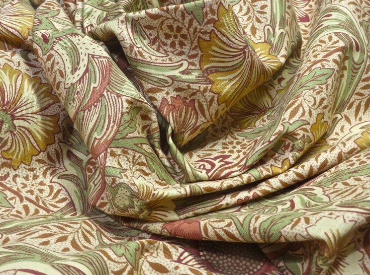 6.75 yards New Vintage Morris & Co Corncockle Dual Purpose Drapery Fabric