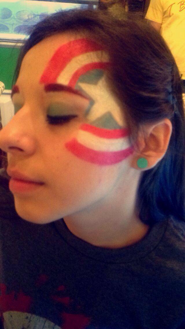 17 best ideas about captain america face paint on for Americas best paint