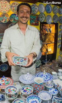 Yunus Vurmaz, owner of Anadolu Ceramics and Gift Shop, Bursa