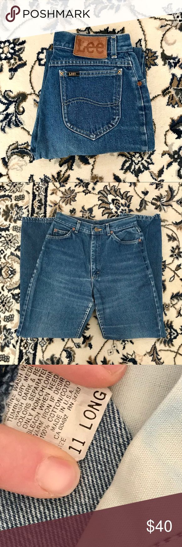 Vintage Lee Jeans Vintage high waist Lee Jeans  Great condition ⚡️ Size 11 Long Lee Jeans Straight Leg