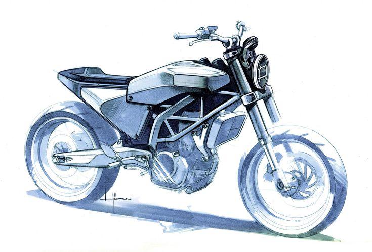 Design Sketch : Husqvarna 401 Vitpilen Concept