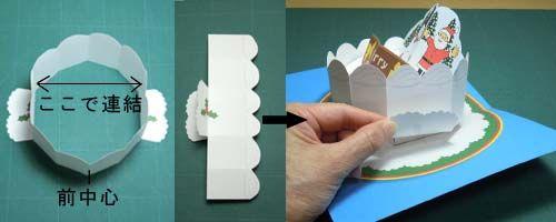 手作り絵本作り方教室 飛び出す絵本とカード クリスマスカード クリスマスケーキ