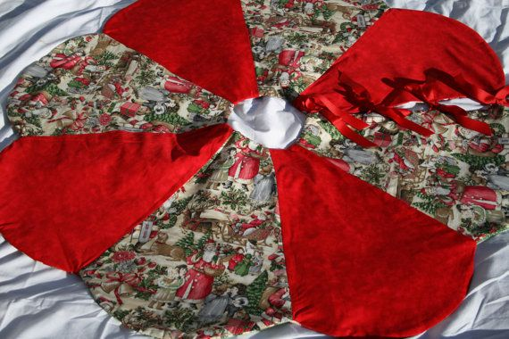 Hey, I found this really awesome Etsy listing at https://www.etsy.com/listing/255819724/reversible-christmas-tree-skirt-handmade