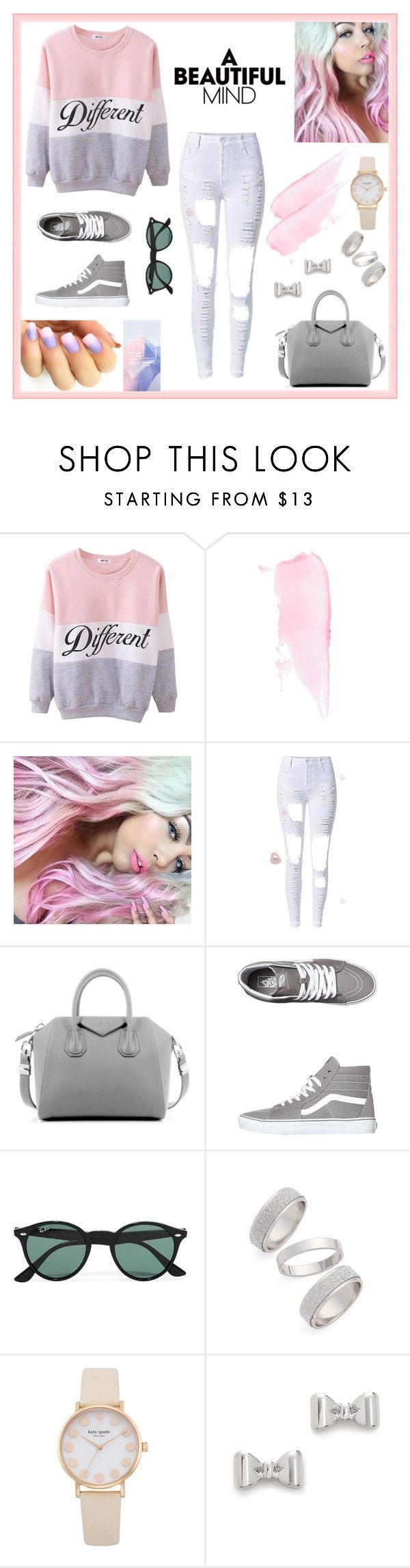 A Beautiful Mind by pepito-sutrisno on Polyvore featuring Vans, Givenchy, Topshop, Marc by Marc Jacobs and Ray-Ban