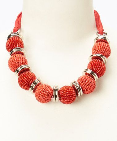 Loving this Red Bead Paparazzi Necklace on #zulily! #zulilyfinds