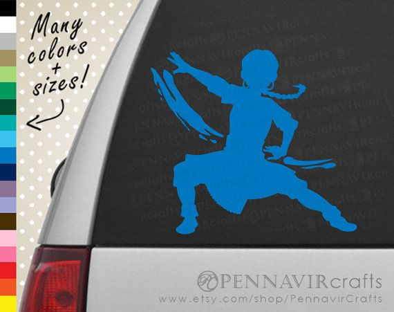 Katara Decal - Avatar the Last Airbender Decal - Good for cars, walls, laptops, consoles and more! www.PennavirCrafts.com