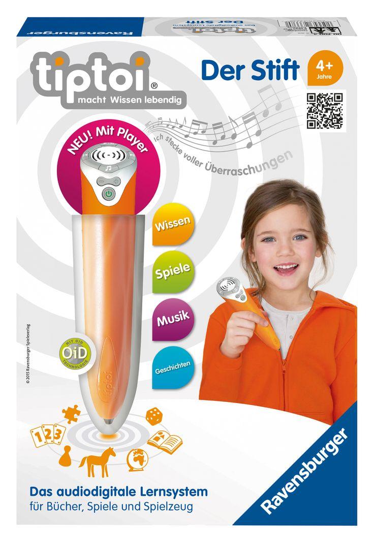 der neue tiptoi Stift mit integriertem Audio-Player