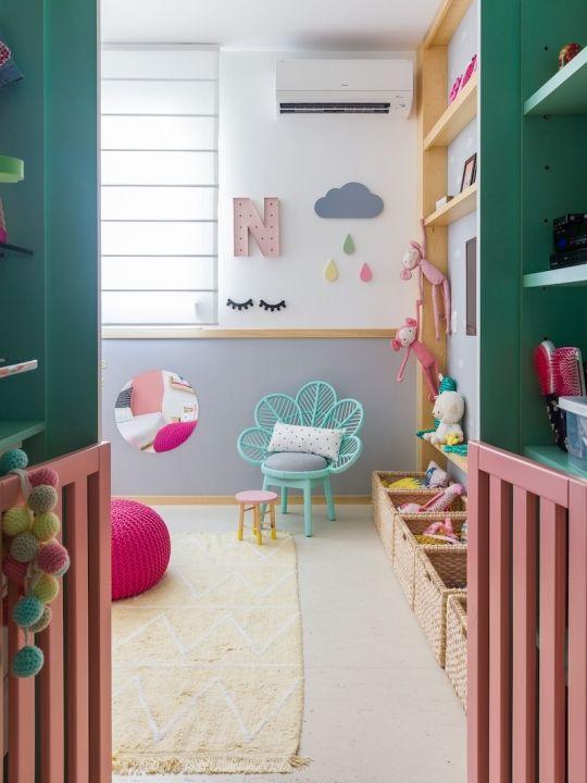 Quarto montessoriano verde e rosa arquitetura bebe y - Habitaciones bebes nina ...