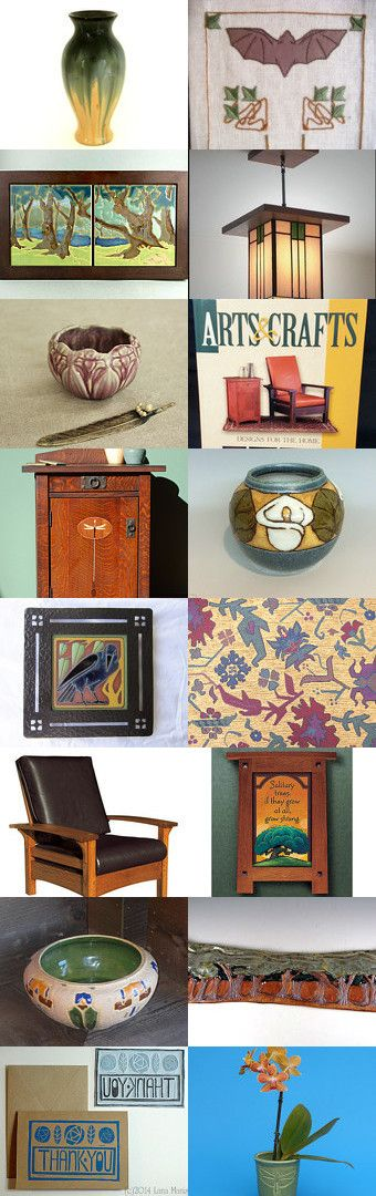 Arts and Crafts Movement No.7 by allan elliott on Etsy--Pinned with TreasuryPin.com   Craftsman   Mission   Bungalow   Pottery   Copper   Art   Textile   Embroidery