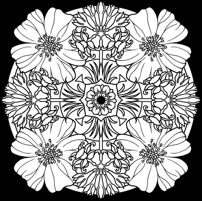 Coloring Pages Of Flowers For Free : 49 best free colouring pages flowers gardens images on pinterest