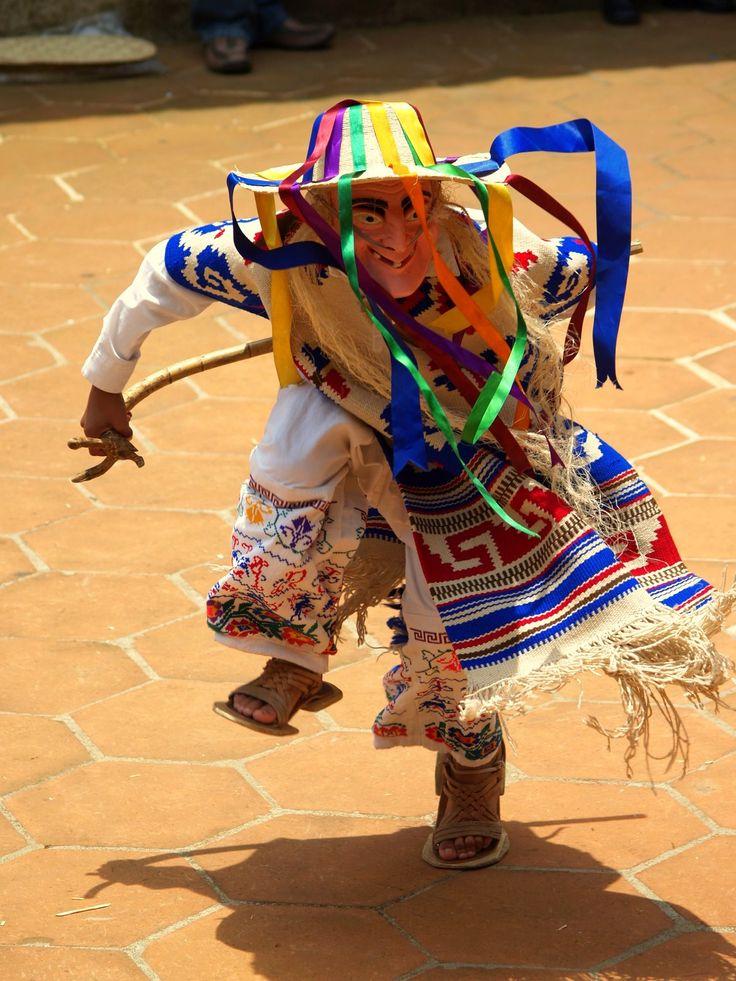La Danza de los Viejitos dancer, Michoacan, Mexico