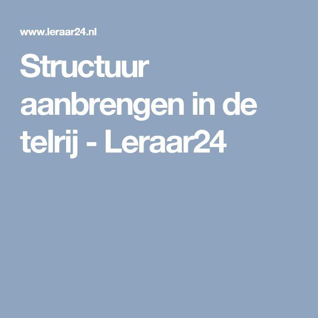 Structuur aanbrengen in de telrij - Leraar24