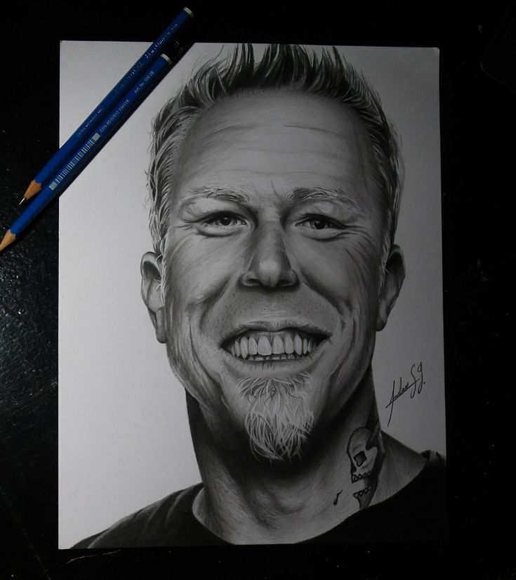 Dibujo de James Hetfield vocalista de Metallica #jameshetfield