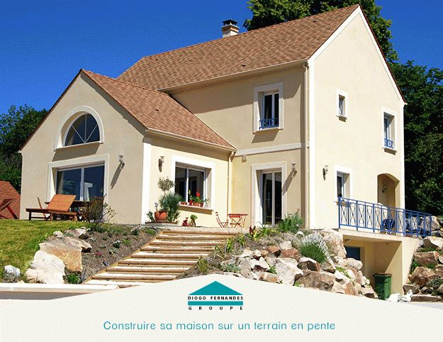 Construire sa maison sur un terrain en pente  conseils #maison