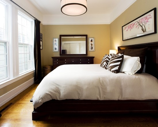 Bedrooms decor and dark wood bedroom on pinterest Small bedroom furniture ideas