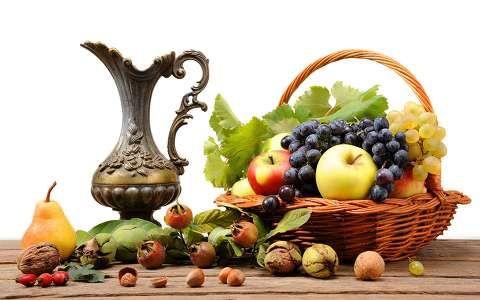 alma csendélet gyümölcs gyümölcskosár