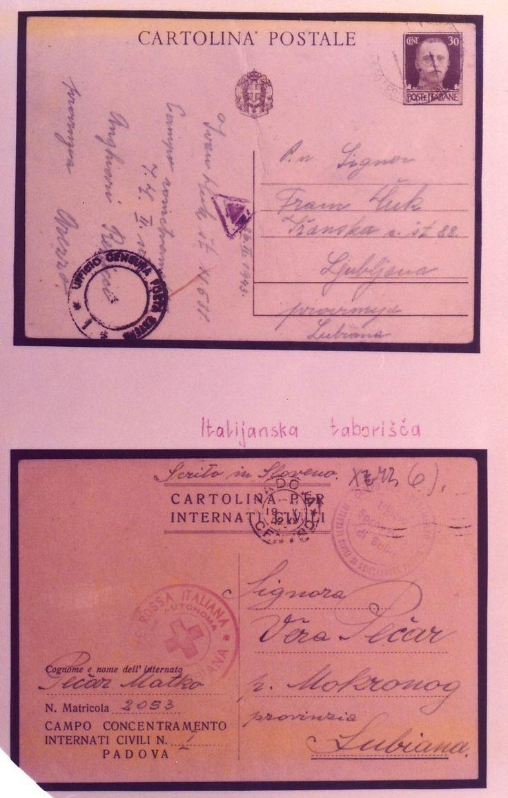 Mostra documentaria-filatelica, Genova, 1975. Cartoline dai campi di concentramento per internati civili.