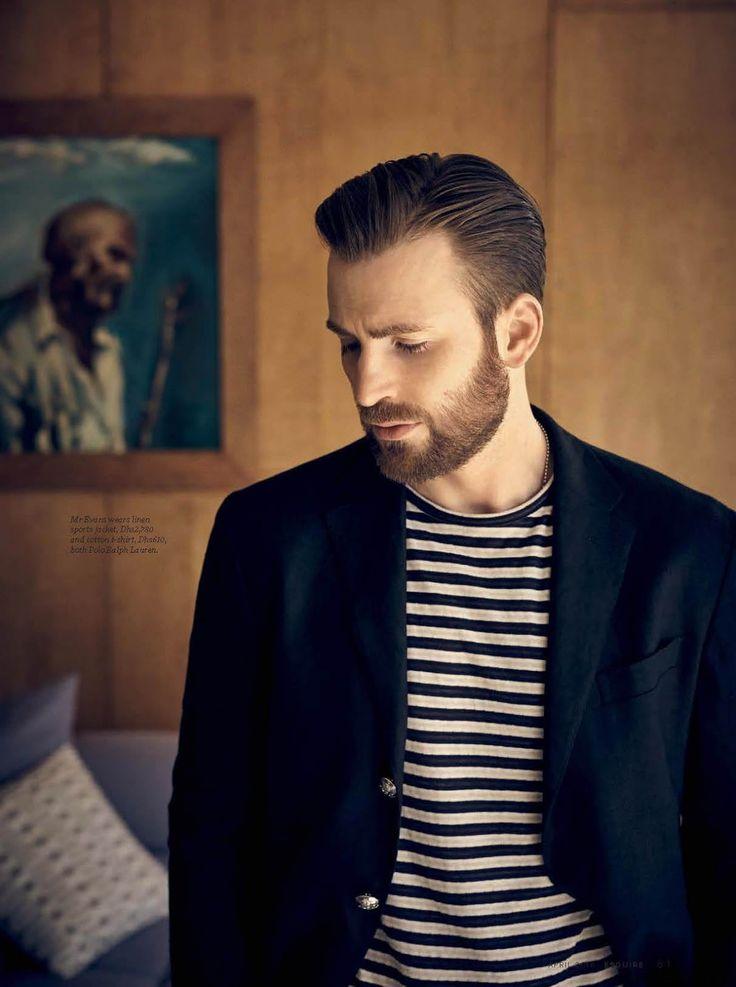 Male Fashion Trends: Chris Evans por Kurt Iswarienko para Esquire Middle East Abril 2016