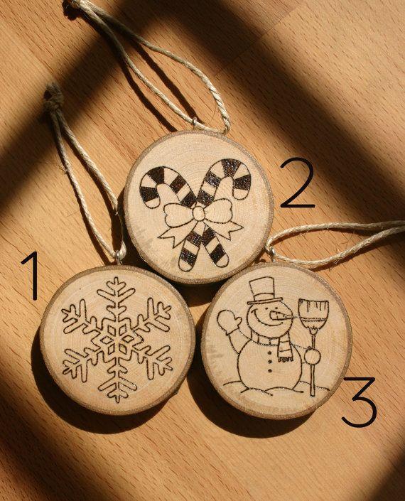 Oltre 25 idee originali per decorazioni natalizie fatte a - Decorazioni pirografo ...