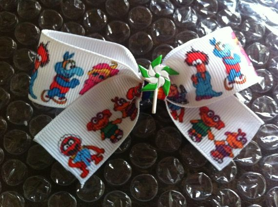 Baby Muppets clip in hair bow by UnicornKitty on Etsy, $4.00