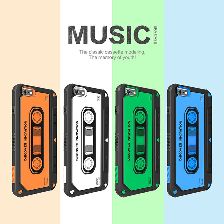 NILLKIN Music Protective case Shock-Resistant Shockproof Cassette Design Back Cover Case for iphone6 plus/6s plus 5.5 inch