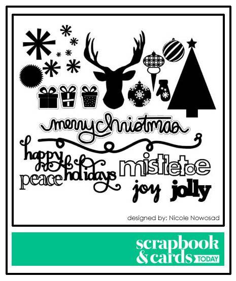 Décorations diverses Noël fichier gratuits silhouette