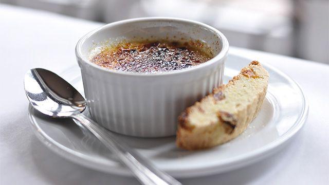 Crème brûlée au sirop d'érable par Maxime Durand