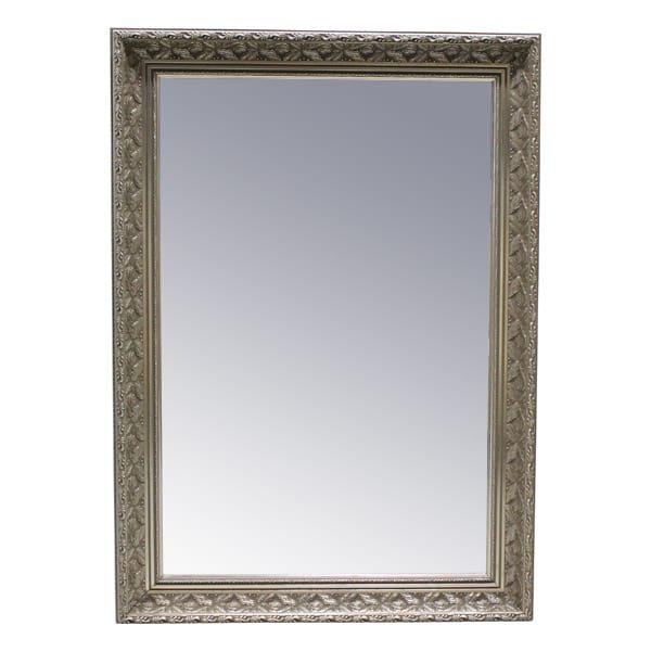 Shyann Siler Frame Mirror || Silver Framed Mirror. Dimensions: 30 x 42.
