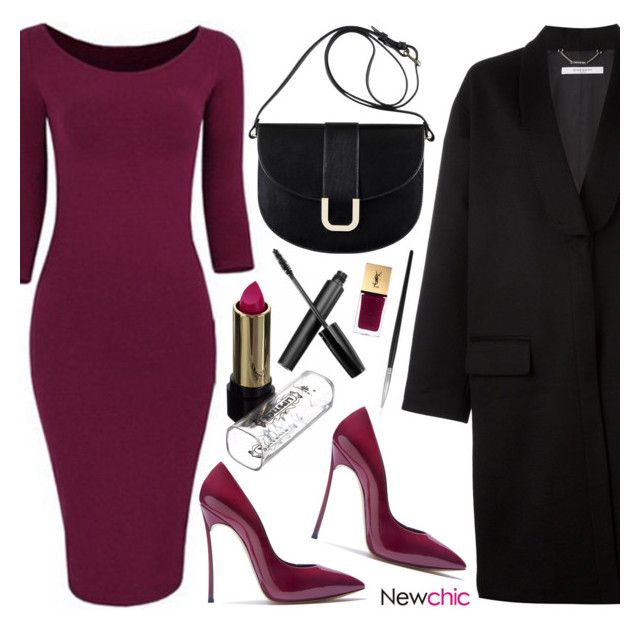 Newchic 6.16 by emilypondng on Polyvore featuring polyvore fashion style Givenchy Casadei A.P.C. Yves Saint Laurent clothing