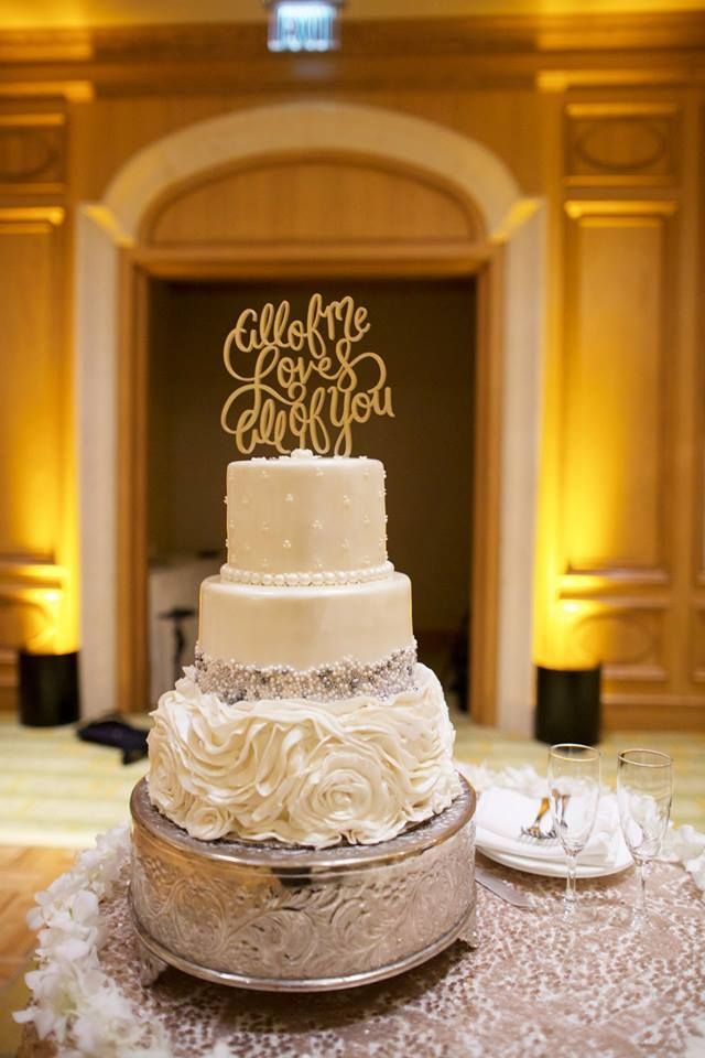 All of me loves all of you wedding cake topper- Anna Kim Photography