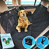 Pet Seat Cover Dog Hammock Luxury Quilted Panels Waterproof  Bonus Dog Seat Belt & Tote Bag by 2Bexpert