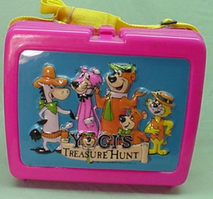 Vintage Rare 1987 UNUSED Yogi Bear Yogi's Treasure Hunt plastic lunch box 3 dem  | eBay