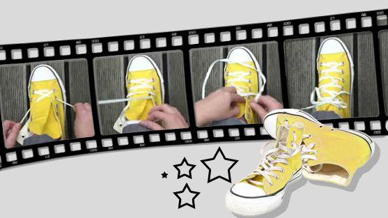 Du willst deine Chucks mal anders binden? Wir zeigen dir im Video, wie du deine Chucks auf verschiedene Weise schnüren kannst :)