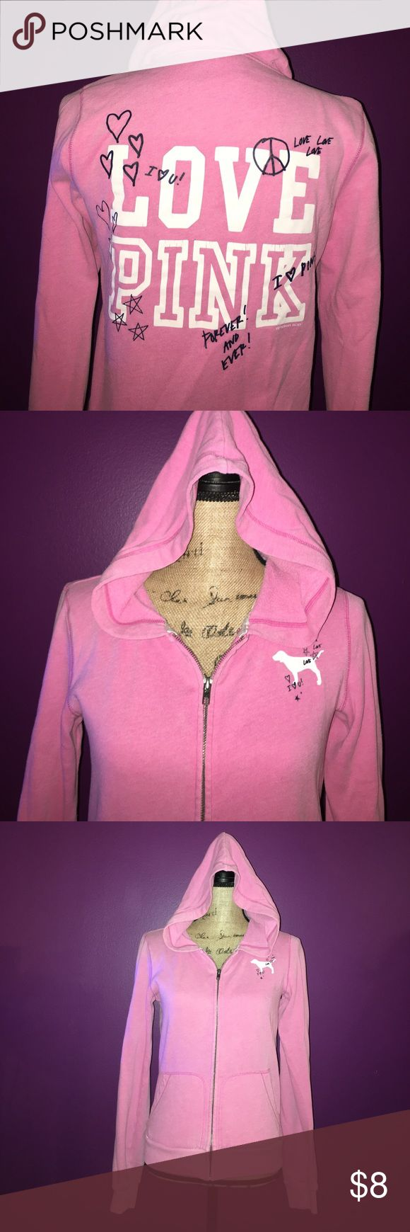 Victoria's Secret Pink zip up Hoodie Victoria's Secret Pink zip up Hoodie, size Small, has some stains- might be able to get them out **MAKE ME AN OFFER** PINK Victoria's Secret Tops Sweatshirts & Hoodies