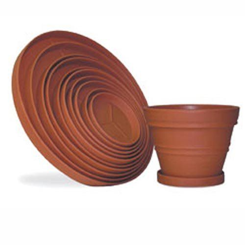 Round Resin Planter Saucers | from hayneedle.com 37 inch and 27 inch.