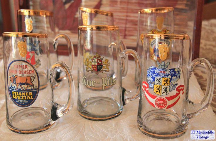 Jarras de Cerveza Alemanas de Cristal (Ref. 0298)