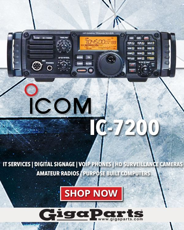 Built for the great outdoors - The ICOM IC-7200 100W HF/6M Transceiver  #hamradio #Transceiver #giftsforhim #amateurradio #Icom