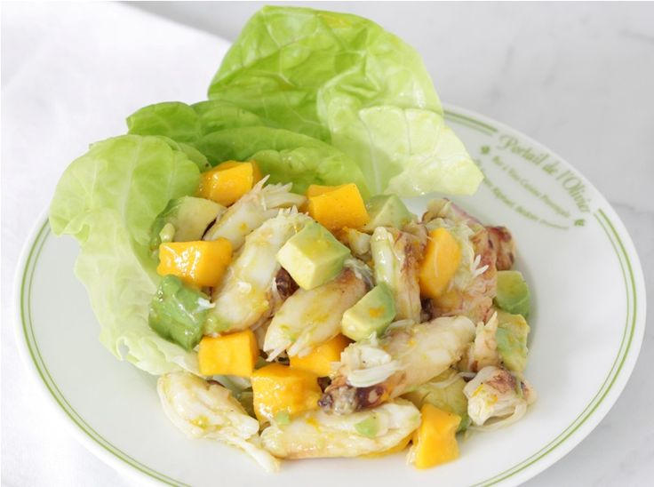 Crab Mango Avocado Salad - all tested ingreds except lime (substitute ...