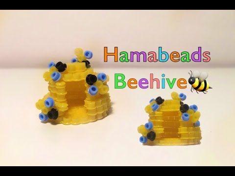 3D HAMA BEADS beehive 3D PYSSLA alveare 3D PERLER BEADS colmena WINNIE THE POH PATTERN - YouTube