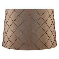 Catalina 10-in x 15-in Gold Fabric Drum Lamp Shade