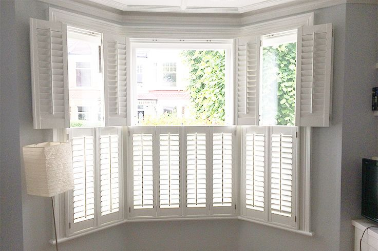 Bay Window Interior Shutters Design Inspiration - Window Source NH