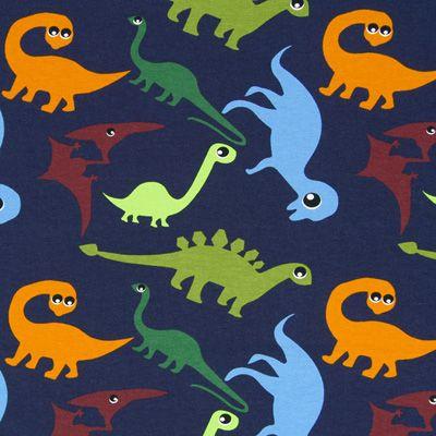 Jersey dinosaurer øjne 2 - Bomuld - Elastan - navy-blue