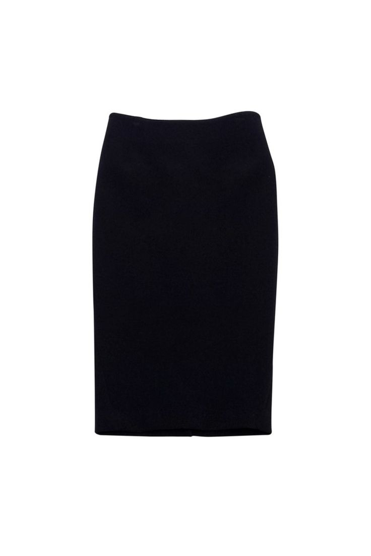 Etro- Long Black Wool Pencil Skirt Sz 4 | Current Boutique