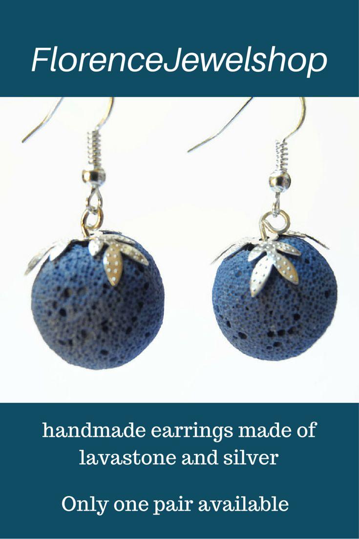 Blue Coral Silver Earrings, Sterling Silver Modern Earrings, Small Design  Earrings, Silver Earhooks, Light Blue Fashion Earrings