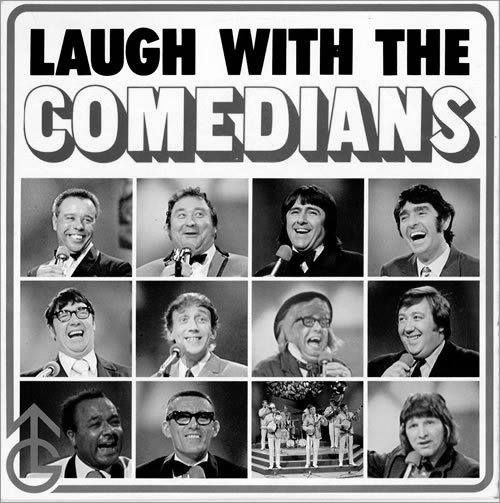 Included in this line-up, I recognise Charlie Williams, Frank Carson, Ken Goodwin, and Bernard Manning. Can anyone name the rest?