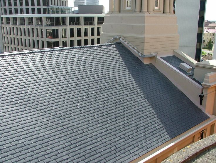 Restoring the roof of Historical St Andrews Church, Wellington, with EcoStar. http://www.vikingroofspec.co.nz/products/pitched-roofs/ecostar-eco-alternative-to-slate-tiles/